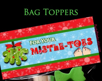 INSTANT DOWNLOAD - Mistletoes - Treat Bag Toppers - Christmas - Happy Holidays