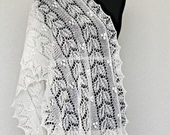 Wedding shawl, bridal shawl, bridal stole, lace scarf, spring scarf, wool shawl gift for her, bridesmaids shawl