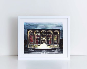 Lincoln Center Art Orchestra Art New York City Art Print NYC Art Print New York Art Travel Photography Architecture NYC Gift Ballet Art