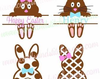 Easter Bunnies SVG - Easter SVG - Bunnies SVG - Digital Cut File - Graphic Design - Cricut Cut - Instant Download - Svg, Dxf, Jpg, Eps, Png