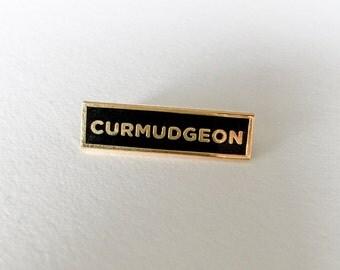 Curmudgeon Enamel Lapel Pin