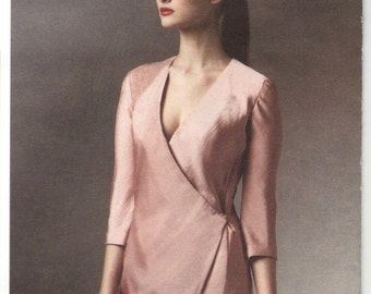 Donna Karan wrap dress pattern -- Vogue American Designer 1384