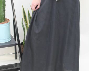 1970s Handmade Black Maxi Skirt Size UK 10/12, US 6/8, EU 38/40