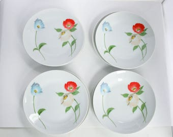 "International China Dinnerware, ""Antoinette"" Pattern, Bread & Butter, Salad Side Plate, Set of 8"