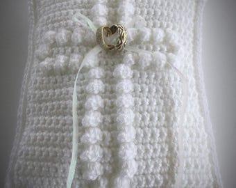 Crochet Wedding Ring Pillow Pattern - Wedding Ring Bearer Pillow  Pattern