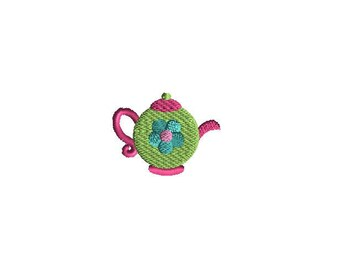 Mini TeaPot Machine Embroidery Design -INSTANT DOWNLOAD