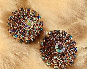 Vintage Crystal Clip-On Earrings