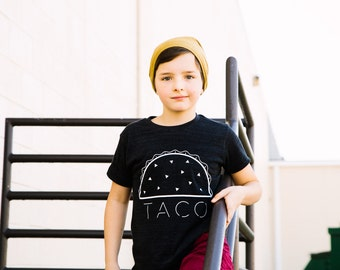 Kids Taco T-shirt- Infant, Toddler, Youth Shirt- Food Tee