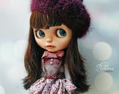 Blythe Ooak Set CANDY CIRCUS By Odd Princess Atelier, Sweater, Skirt, Beret, Hand Knitted Collection
