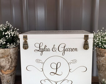 Wedding Card Box/Money Box/Rustic Wedding/Rustic Card Box/Card Holder/Wedding Advice Box/Custom Card Box/Anniversary Card Box/Event Card Box