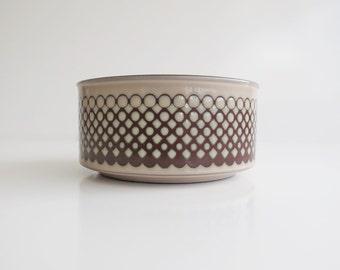 Hornsea Coral Cereal or Soup Bowl - Vintage Hornsea Cereal or Soup Dish - Impressed Graphic Design - 1980's
