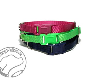 "Extra Small Dog Collar Side Release / Teacup / Mix & Match / 3/8"" (9mm) / Red, Yellow, Blue, Black, White, Green, Pink, Orange, Purple"