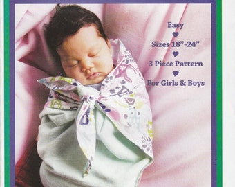 "Baby Swaddler Pattern Sew Baby F719 Sizes 18 - 24"" Uncut"