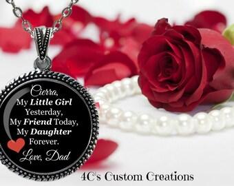 My Little Girl Photo Pendant, Photo Necklace, Custom Photo Jewelry, Personalized Keepsake Jewelry, Picture Necklace, Photo Jewelry