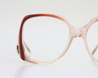 Vintage 70's Cinnamon Drop Arm Eyeglass Frames