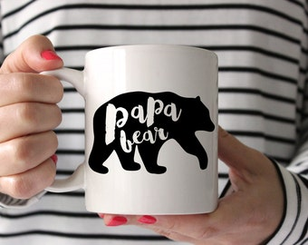 Papa Bear, Dad Gift, Father's Day, New Dad Gift, Dad Mug, New Dad, Grandpa Gift, Grandpa Mug, Dad Mug, Funny Dad Gift, Gift for Dad