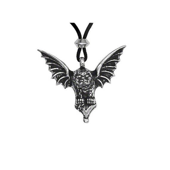 Pewter gargoyle pendant jewelry gothic necklace like this item aloadofball Gallery