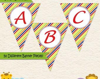 Music Birthday Banner • First Birthday • Toddler Birthday • Music Party • Alphabet Banner • Music Party Decorations • Printable • 014C3
