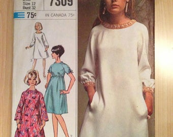 Simplicity Sewing Pattern 7309 Misses Dress Designer Fashion Size 12