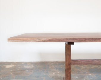 Walnut Trestle Dining Table - Book Matched