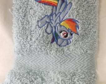 Rainbow Dash wash cloth