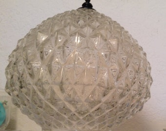 Crystal Ceiling Lamp Cover 8 inch height Clear Heavy Lead Crystal DIAMOND CUT pattern