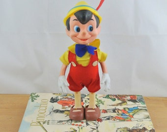 Vintage Walt Disney Pinocchio Toy Figurine   Vintage Disney   Pinocchio Doll   Disneyana