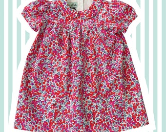 Girl's Liberty Print Peter Pan Smock Dress | Baby to 6 Years | Wiltshire