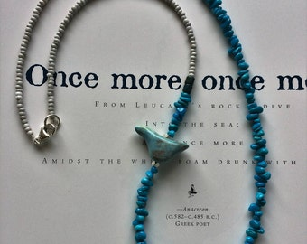 Bird of Happiness - Turquoise Beaded Necklace