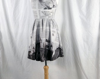Harry Potter Dress featuring my Artwork of Hedwig flying over Hogwarts School of Witchcraft and Wizardry