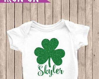 Personalized Saint Patricks Outfit, Saint Patricks DIY Iron On, Saint Patricks Name Shirt