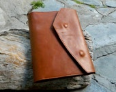 A5 Leather Journal Cover Art Diary with Stationary and Card Slots Leather Padfolio