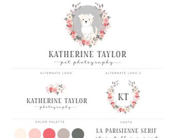 Branding Kit, Premade Branding Package, Photography Logos and Watermarks, Watercolor Portrait  Marketing & Branding Set bp77