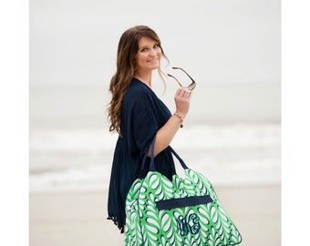 Monogrammed Beach Bag, Weekender Bag, Bridesmaid Gifts, Bridal Shower Gifts, Group Discounts, Monogram Beach Totes