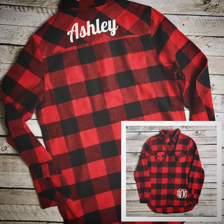 monogrammed flannel shirts  monogrammed buffalo plaid flannel shirts  monogrammed shirts