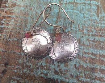 Daisy tourmaline earrings