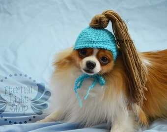 ANY Sizes/Colors Pet Pony Tail Hat Beanie (XS-XL) Messy Bun