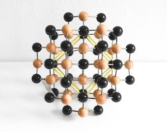 Vintage molecular atom model set diamond chemistry lab supply teaching material