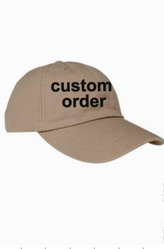custom order baseball hat personalized baseball hat design