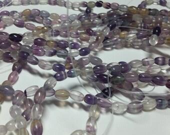 Purple Fluorite Tube Beads 8mm-9mm