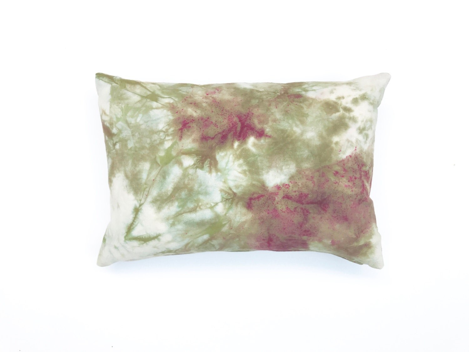 Burgundy Green Throw Pillows : Burgundy and Green Pillow Hand dyed Throw Pillow Marbled