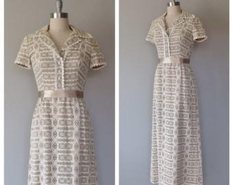 vintage 1970s lace maxi dress size medium