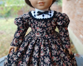 """18"""" Doll Clothes Historical Civil War Era Dress Fits American Girl Marie Grace, Cecile, Addy, Kirsten"""