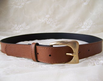 Vintage Brown Belt.Vintage Classic Belt.Ladies Brown Belt.Vintage 1990's Belt.Vintage Brown Medium Belt.Vintage Women's Accessories.90s Belt
