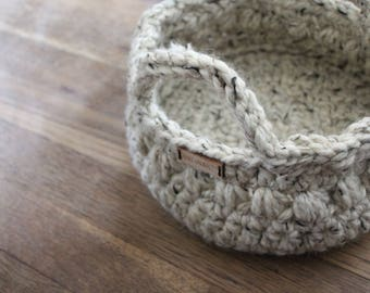 Ready to ship storage basket, Neutral home decor, Crochet basket, Home decor- Storage ideas, Center piece