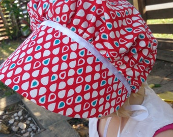 AS IS Clearance Size 3-5T Valentine's Day Bonnet, Valentine's Hat, Sun bonnet, Easter Bonnet, Prairie Bonnet, Toddler Bonnet, Baby sun hat