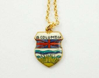 British Columbia Charm Necklace - BC Charm Necklace - Canada 150 Keepsake