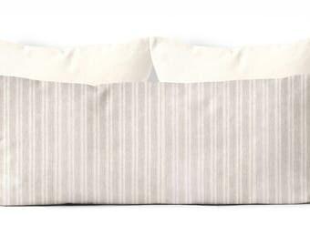 decorative body pillow cover,farmhouse decor, 20x54 inch pillow cover,stripes,body pillow case, long pillow cover, tan body pillow cover