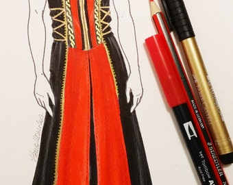MADE TO ORDER Detachable removable sleeves Larp hooded Long Coat,Renaissance, Reenactment, men's larp clothing