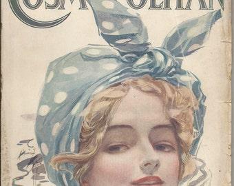 Vintage August 1910 Cosmopolitan Magazine Bathing Beauty Cover